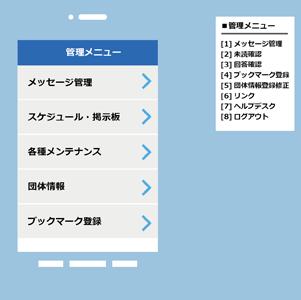 携帯端末からの配信にも対応